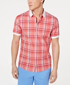 Michael Kors Men's Aaron Slim-Fit Stretch Plaid Shirt
