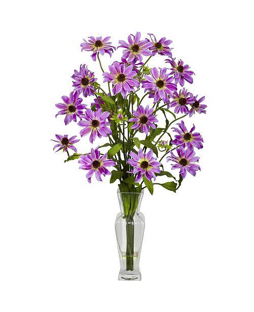 Nearly Natural Cosmos w/ Vase Silk Flower Arrangement