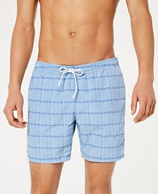"Lacoste Men's Logo-Print Taffeta 6.5"" Swim Trunks"