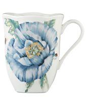Lenox Dinnerware, Butterfly Meadow Blue Mug