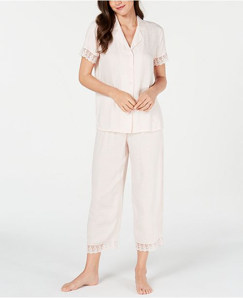 Charter Club Lace-Trim Top, Shorts & Pants Sleep Separates Created for Macy's