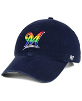 quality design 75634 f30d1  47 Brand Milwaukee Brewers Pride CLEAN UP Strapback Cap ·
