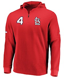 Majestic Men's Yadier Molina St. Louis Cardinals Authentic Batting Practice Waffle Hoodie