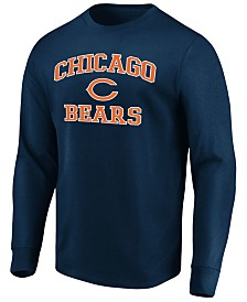 Majestic Men's Chicago Bears Heart and Soul Long Sleeve T-Shirt