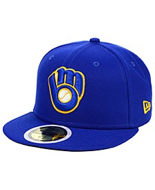 Little Boys Milwaukee Brewers Authentic Collection 59FIFTY FITTED Cap