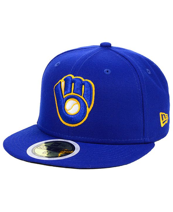 New Era Little Boys Milwaukee Brewers Authentic Collection 59FIFTY FITTED Cap