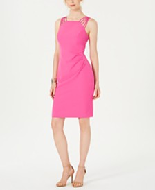 Vince Camuto Multi-Strap Halter Dress