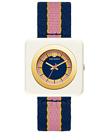 Women's Izzie Multicolor Grosgrain Strap Watch 36mm