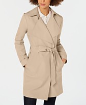84df34f445 MICHAEL Michael Kors Belted Wrap Trench Coat
