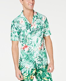 Michael Kors Men's Slim-Fit Jungle-Print Camp Shirt, Created for Macy's