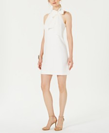 Vince Camuto Tie-Neck Dress