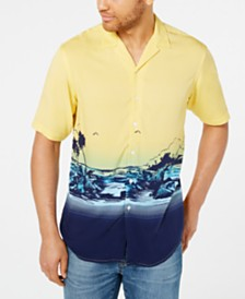 Club Room Men's Colorblocked Tropical-Print Camp Collar Shirt, Created for Macy's