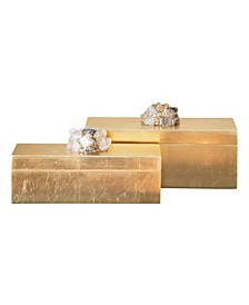 Astoria Quartz Rectangular Boxes (Set of 2)