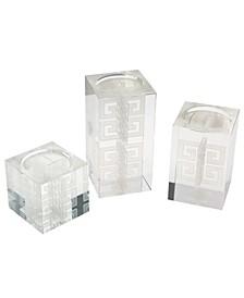 Hawthorne Crystal Candleholders (Set of 3)