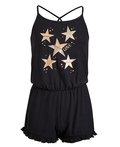 Epic Threads Big Girls Star-Print Romper, Created for Macy's