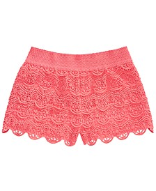 Epic Threads Big Girls Crochet Coral Shorts, Created for Macy's