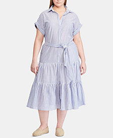 Lauren Ralph Lauren Plus Size Cotton Shirtdress