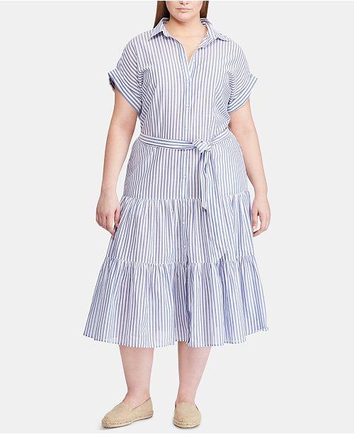 Lauren Ralph Lauren Plus Size Cotton Shirtdress