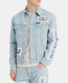 Calvin Klein Jeans Men's Foundation Graphic Trucker Jacket