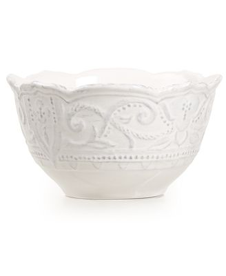 Maison Versailles Blanc Amelie Cereal Bowl - Dinnerware - Dining & Entertaining - Macy's