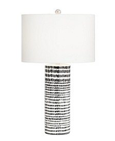 Ceramic White with Black Stripes Table Lamp