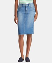e24565ce22b67 Lauren Ralph Lauren Five-Pocket Denim Skirt