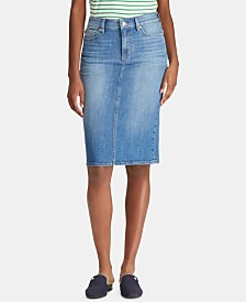 Lauren Ralph Lauren Five-Pocket Denim Skirt