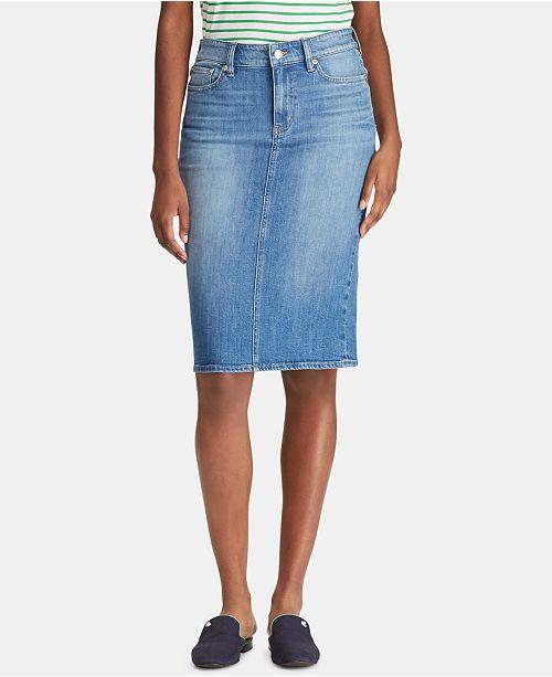 Lauren Ralph Lauren Five-Pocket Denim Skirt