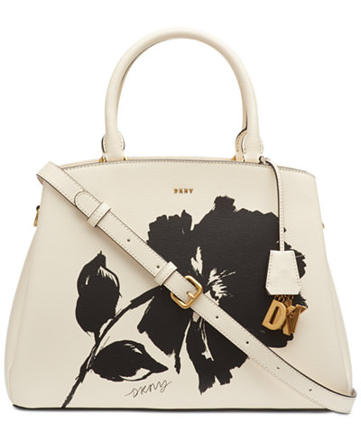DKNY Paige Floral Large Satchel, Created for Macy's