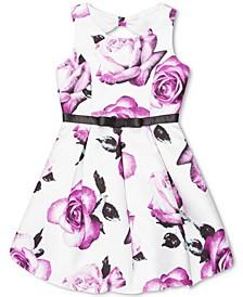 Big Girls Floral-Print Bow-Back Dress