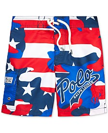 Polo Ralph Lauren Little Boys Kailua Printed Swim Trunks