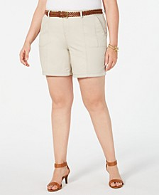 Plus Size Belted Shorts, Created for Macy's