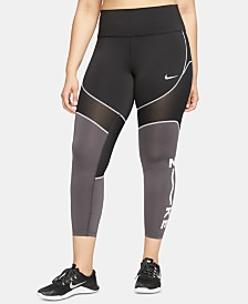Nike Plus Size One Dri-FIT Colorblocked Ankle Leggings