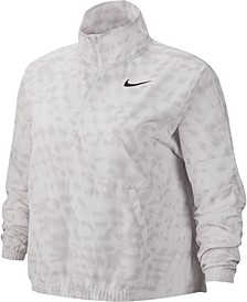 Plus Size Dri-FIT Printed Half-Zip Running Jacket