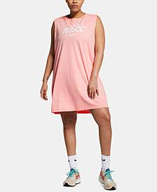 Nike Plus Size Sportswear Cotton Logo Sleeveless Dress