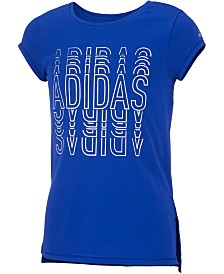 adidas Toddler Girls Logo-Print Vented-Hem T-Shirt