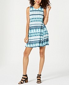 Petite Sleeveless Printed Dress, Created for Macy's
