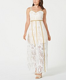 Lace Eyelash-Trim Gown