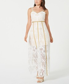 foxiedox Lace Eyelash-Trim Gown