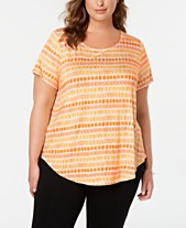 2d5bf27607 Alfani Plus Size Printed T-Shirt