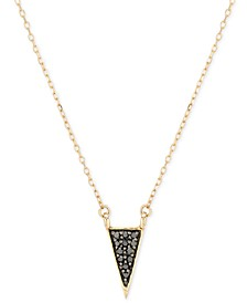 "Black Diamond Accent Triangle Pendant Necklace in 14k Gold, 15"" + 1 "" extender"