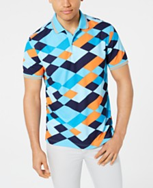 Club Room Men's Geo Diamond Polo, Created for Macy's