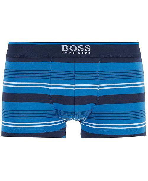 BOSS HUGO Men's Striped Trunks