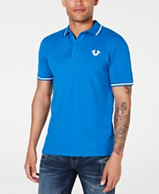 True Religion Men's Tipped Logo Polo