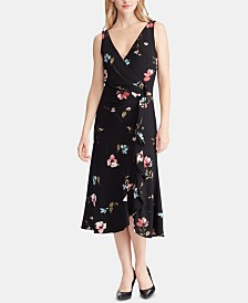 Lauren Ralph Lauren Floral-Print Surplice Dress