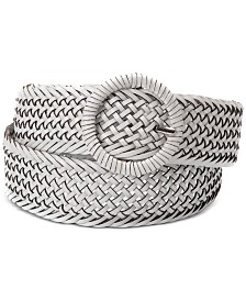 I.N.C. Woven Braid Wrapped Buckle Plus Size Belt, Created for Macy's