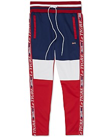 Le Tigre Men's Logo Side Stripe Colorblocked Track Pants