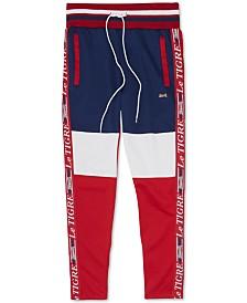 Le Tigre Men's Logo Side Stripe Colorblocked Track Pants