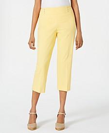 Petite Rivet-Detail Tummy Control Capri Pants, Created for Macy's