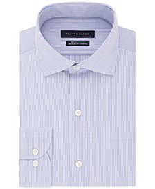 Men's Big & Tall Classic/Regular-Fit THFlex Stretch Non-Iron Stripe Dress Shirt